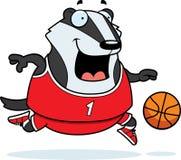 Cartoon Badger Basketball Stock Photo