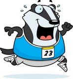 Cartoon Badger Running Race Stock Photos