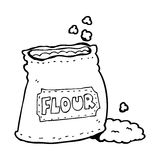 Cartoon bag of flour Royalty Free Stock Photos