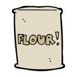 Cartoon bag of flour Stock Images