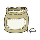 Cartoon bag of flour Stock Photo