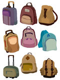 Cartoon bag set icon Stock Image