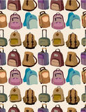 Cartoon bag set seamless pattern Stock Photo