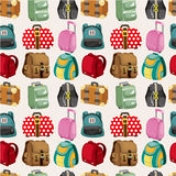 Cartoon bag set seamless pattern Stock Photos
