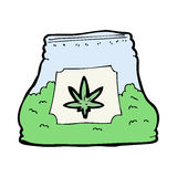 Cartoon bag of weed Stock Photography