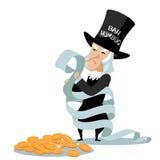 Cartoon Bah Humbug Miser Royalty Free Stock Photo