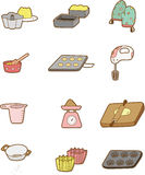 Cartoon Bake icon. Drawing Royalty Free Stock Images