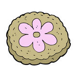 Cartoon baked biscuit Royalty Free Stock Image