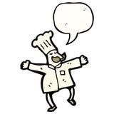 Cartoon baker Stock Image