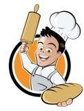 Cartoon Baker Button Stock Image