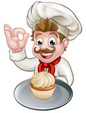 Cartoon Baker or Pastry Chef Royalty Free Stock Image