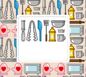 Cartoon baking card Stock Images