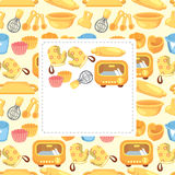 Cartoon baking card Stock Image
