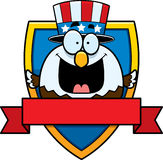 Cartoon Bald Eagle Badge Royalty Free Stock Photography