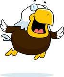 Cartoon Bald Eagle Flying Royalty Free Stock Photos