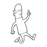 Cartoon bald man with idea Royalty Free Stock Photo