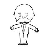 Cartoon bald man with open arms Royalty Free Stock Images