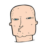Cartoon bald tough guy Royalty Free Stock Photography