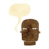 Cartoon bald tough guy with speech bubble Royalty Free Stock Photo