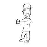 Cartoon balding man explaining Royalty Free Stock Photography