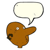 Cartoon balding man with speech bubble Royalty Free Stock Photography
