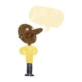 Cartoon balding man with speech bubble Royalty Free Stock Photos