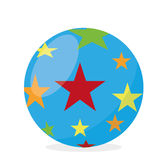 Cartoon Ball With Stars Isolated Stock Image