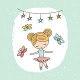 Cartoon ballerina girl