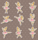 Cartoon Ballet dancer stickers Royalty Free Stock Image
