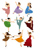 Cartoon Ballet icon Stock Photos