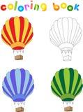 Cartoon balloon. Coloring book for children  Royalty Free Stock Photos