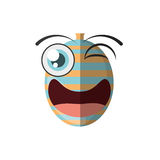 Cartoon balloon decorative party wink. Illustration eps 10 Royalty Free Stock Images