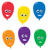 Cartoon Balloon Faces Stock Photography
