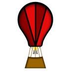 Cartoon balloon. Stock Image