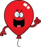 Cartoon Balloon Idea. A cartoon illustration of a balloon with an idea Royalty Free Stock Image
