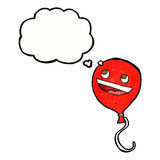 cartoon balloon with thought bubble Royalty Free Stock Images