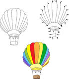 Cartoon balloon. Vector illustration. Coloring and dot to dot ga Royalty Free Stock Photography