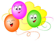 Cartoon balloons Stock Photos