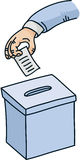 Cartoon Ballot Box Stock Images