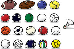 Cartoon Balls Royalty Free Stock Photography