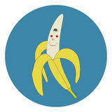 Cartoon banana. Flat design, illustration stock illustration
