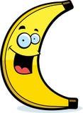 Cartoon Banana Smiling. A cartoon yellow banana smiling and happy Royalty Free Stock Photography