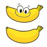 Cartoon Banana. Vector illustration of smiling cartoon banana Stock Photos