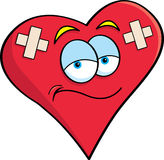 Cartoon bandaged heart Stock Images
