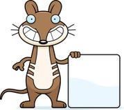 Cartoon Bandicoot Sign Royalty Free Stock Photo