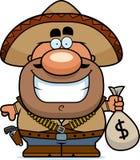 Cartoon Bandito Moneybag Royalty Free Stock Photo