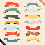 Cartoon Banners And Ribbons Stock Photo
