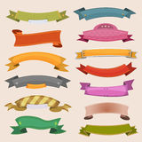 Cartoon Banners And Ribbons Royalty Free Stock Photos
