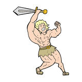 cartoon barbarian hero Royalty Free Stock Images