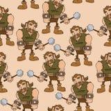 Cartoon barbarian pattern Royalty Free Stock Photo